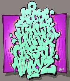 Graffiti Lettering Alphabet, Graffiti Writing, Tattoo Lettering Fonts, Graffiti Font, Graffiti Designs, Graffiti Styles, Cool Lettering, Grafitti Alphabet, Alphabet Drawing