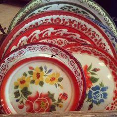 Vintage Enamel Plate by uniqueenamel on Etsy