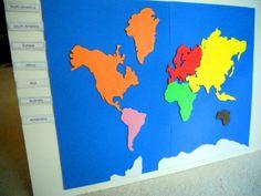 project 18: Make A Montessori Continent Map