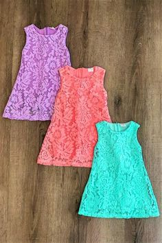 Diy Crafts - Lace Tank Dresses Many Colors - Sparkle in Pink Girls Dresses Sewing, Frocks For Girls, Little Girl Dresses, Girls Frock Design, Baby Dress Design, Kids Dress Wear, Kids Gown, Baby Frocks Designs, Kids Frocks Design