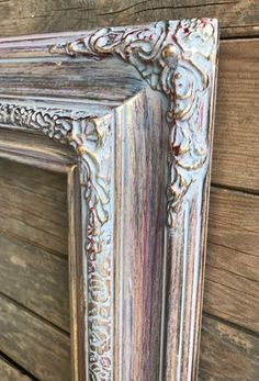 Custom Picture Frame, Gold Wood, Picture On Wood, Gold Picture Frames, Ornate Wood Frames, Mirror Painting, Paint Furniture, Painting Frames, Painted Picture Frames