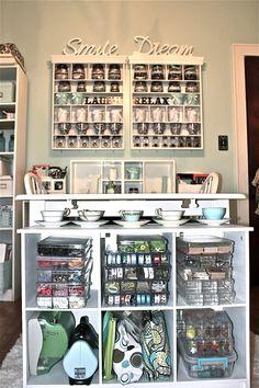 End storage of Scrap Book table - Child cubby Scrapbook.com