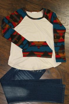 Long sleeve top with front kangaroo style pocket