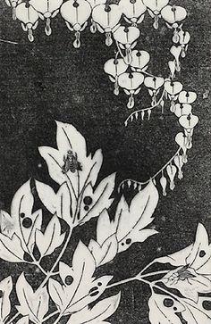 伊藤若冲『華鬘草(けまんそう)』-拓版摺(額装もできます) - 京都 木版画の販売 Winds!芸艸堂(うんそうどう)/Ukiyo-e, Woodblock print - Winds! UNSODO