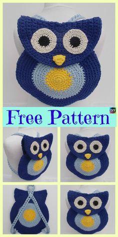 Adorable Crochet Owl Bag – Free Patterns #freecrochetpatterns #owl #purse #bag