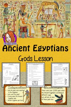 Ancient Egyptian Gods Complete History Lesson Teach children about Ancient Egyptian gods. The children will learn who the gods were, their different abilities and one of the Egyptian creation story. There is a detailed 37 slide PowerPoint and four version Ancient Egypt Religion, Ancient Egypt For Kids, Ancient Egypt History, Teaching History, Teaching Kids, Teaching Resources, Tes Resources, College Teaching, Primary Teaching