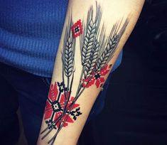 Tattoo photo - Wheat tattoo by Marta Teterina Mini Tattoos, Red Tattoos, Subtle Tattoos, Body Art Tattoos, Sleeve Tattoos, Cool Tattoos, Tattoo Ink, Hmong Tattoo, Slavic Tattoo