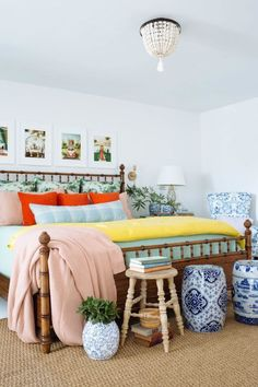 colorful eclectic bedroom #eclecticdecorbedroom