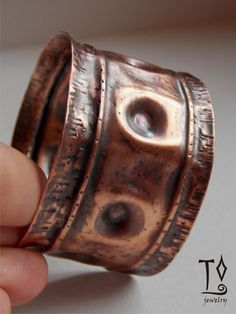 Fold forming copper bracelet 2 by LizzyTunc on Etsy