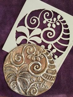 Pewter embossing wit