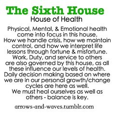 Astrology: 6th (Sixth) House (House of Health) | #Astrology #6thHouse #SixthHouse