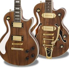 Ltd. Ed. Les Paul Custom PRO KOA / Epiphone Ltd Ed. Wildkat KOA w / Bigsby