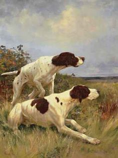 Thomas Blinks (1860-1912), Two Pointers on the Scent