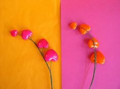 Pink and Orange Hearts