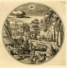 """Junius"" after Hans Bol c.1580 Engraving"