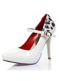 2011 voorjaar en de zomer mode schoenen witte hoge hakken Leopard