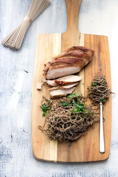 chicken teriyaki with sesame soba noodles