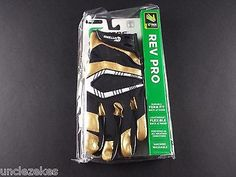 Cutters Rev Pro Black and Metallic Gold Adult XL Football Gloves