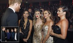 Prince Harry meets girlband Little Mix at Royal Variety Performance