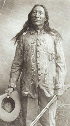 Chief Iron Tail in Uniform, c.1900