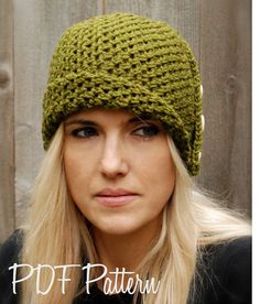 Crochet Paiyton Cloche PATTERN-The' dimensioni di Thevelvetacorn