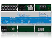 120 V DIN Rail Power Module with EcoSystem® controls EcoSystem LED drivers and ballasts, lets you easily reconfigure lighting zones to accommodate changes (such as rearranging furniture) in a room.