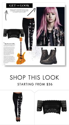 """""""Desperate Angel"""" by jeonyeokhaneul ❤ liked on Polyvore featuring Tripp, River Island, Dr. Martens, kpop, BlackPink, LalisaManoban, lalisa and lisamanoban"""