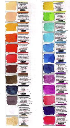 Paint Color Wheel, Mixing Paint Colors, Color Mixing Chart, Watercolor Mixing, Watercolor Sketchbook, Easy Watercolor, Watercolor Paintings For Beginners, Coloured Pencils, Elements Of Art