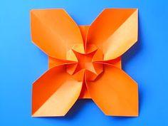 Origami: Fiore quadrato, variante 2 - Square Flower, variant 2, Francesco Guarnieri
