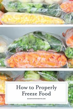 How to freeze food to keep it fresh the longest, how to thaw foods safely and what foods are NOT freezer friendly!#howtofreezefood www.savoryexperiments.com