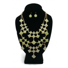 ON SALE! - Necklace & Earring Set - Light Green - $7.50 - The Beadcage - Jewelry & Gift
