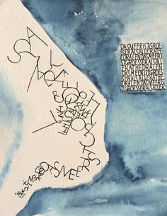 Das Meer ist größer als alle Kathedralen Caligraphy, Calligraphy Art, Profit And Loss Statement, Painting Words, Sumi Ink, Arches Paper, Mark Making, Art Studios, Beautiful Images