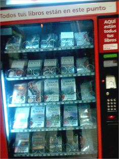 Vending machine in spanish