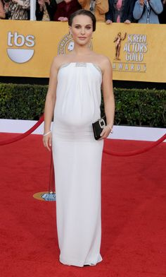 Pin for Later: Over 60 of Natalie Portman's Best Red Carpet Looks Ever Natalie Portman in Azzaro at the 2011 Screen Actors Guild Awards She glowed in a strapless white Azzaro number, complete with a crystal-encrusted neckline, for the 2011 SAG Awards.