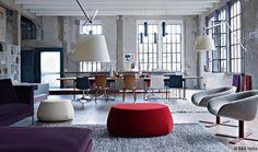 #Tolomeo Mega Terra fits so well in this loft ! #design Michele de Lucchi & Giancarlo Fassina