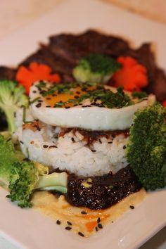 Beef  & Broccoli with Fried Rice a la westchesterfoodie.com