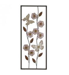 METALLIC WALL DECORATION FLOWERS 25Χ4Χ61
