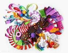 Julia Brodskaya ( Rusia) - Arte con papel.