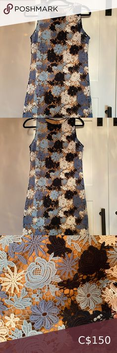 Shop Women's Michael Kors Blue size 10 Midi at a discounted price at Poshmark. Worn only one time for event. Plus Fashion, Fashion Tips, Fashion Trends, Flower Dresses, Crochet Flowers, Mint, Michael Kors, Closet, Outfits