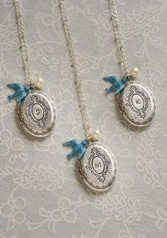 Silver Locket Bridesmaid Gift Locket Bridesmaid by LimonBijoux
