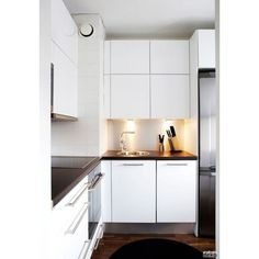 #modern #nordic #scandinavian #kitchen ❤ liked on Polyvore featuring home and kitchen & dining