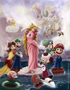 Mario en perzik Cartoon Porn