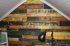 After your boards have dried you can attach them to the wall.  This step is kind of like putting a puzzle together!