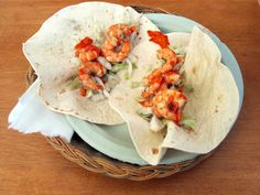 #Tacos aux #crevettes et #guacamole classique