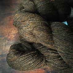 Peace Fleece Wooly Bear - brown worsted weight wool yarn