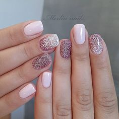 The trend of nail design is popular among most women and young girls. Flashing nail art design has become people's favorite. Almost every girl likes glitter on her nails. The glitter nail polish gave the nails light, which will attract many people. Short Nail Designs, Nail Designs Spring, Gel Nail Designs, Nails Design, Acrylic Nail Designs Glitter, Sparkle Nail Designs, Cute Nail Designs, Glitter Gel Nails, My Nails