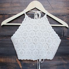 sahara crochet crop halter top - sand – shop hearts