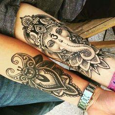 #inked #ganesha #blackandwhite #tattoo #tatuagem #alineymarques