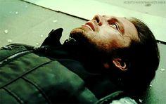 Sebastian Stan as Bucky Barnes in Captain America Civil War - Visit to grab an amazing super hero shirt now on sale!