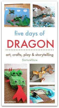 Five days of dragon activities unit - dragon crafts, lesson plans about dragons Dragon Day, Make A Dragon, Dragon Project, Dragons Love Tacos, Dragon Birthday, Dragon Crafts, Dragon Games, Creative Skills, Camping Crafts